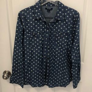 Old Navy polka dot shirt